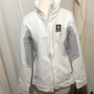 Women's white under armour Army storm jacket